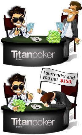 titan poker starting capital