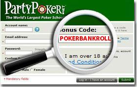 Введение PartyPoker Bonus Code
